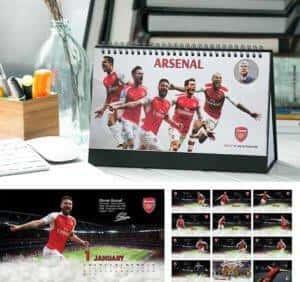 lịch để bàn Arsenal 2019