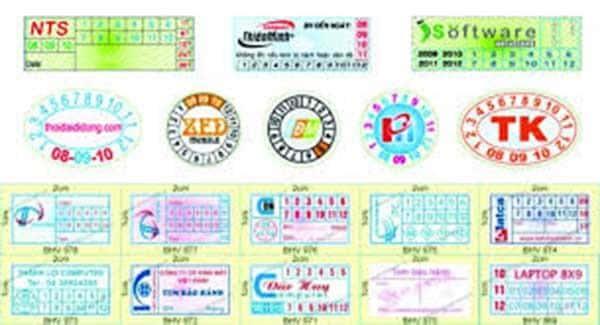 thiết kế tem bảo hành