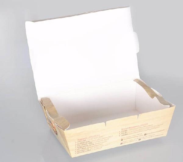 hộp giấy thực phẩm số lượng ít
