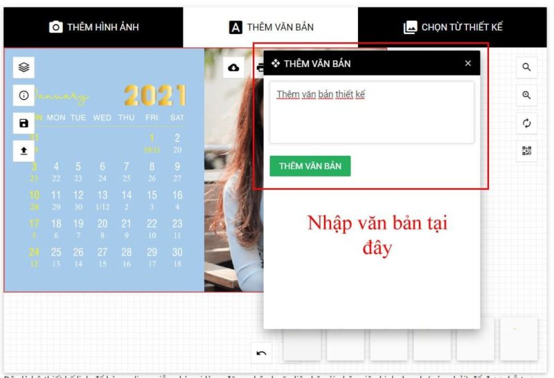 Thiết kế lịch để bàn online 50