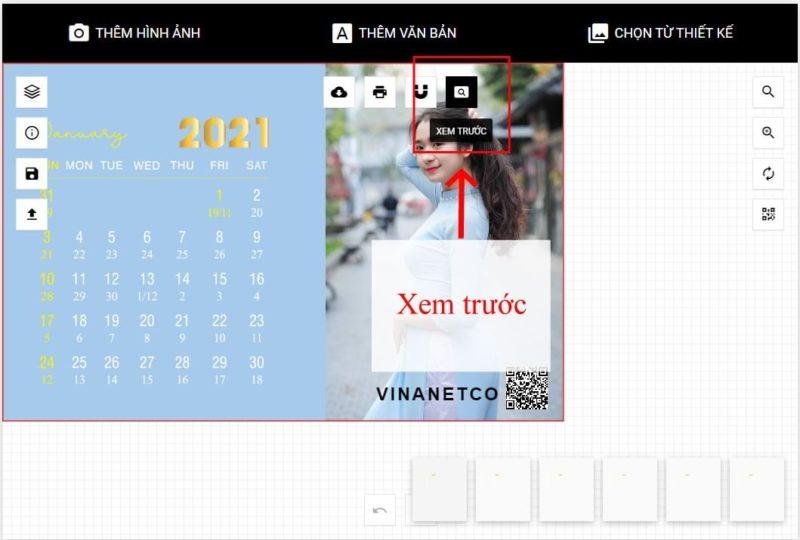 Thiết kế lịch để bàn online 57