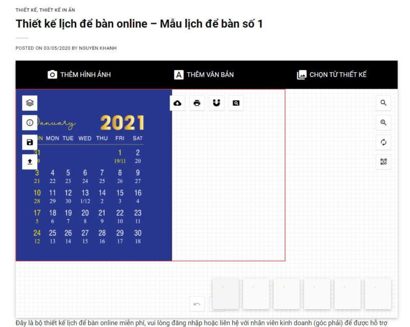 Thiết kế lịch để bàn online 43