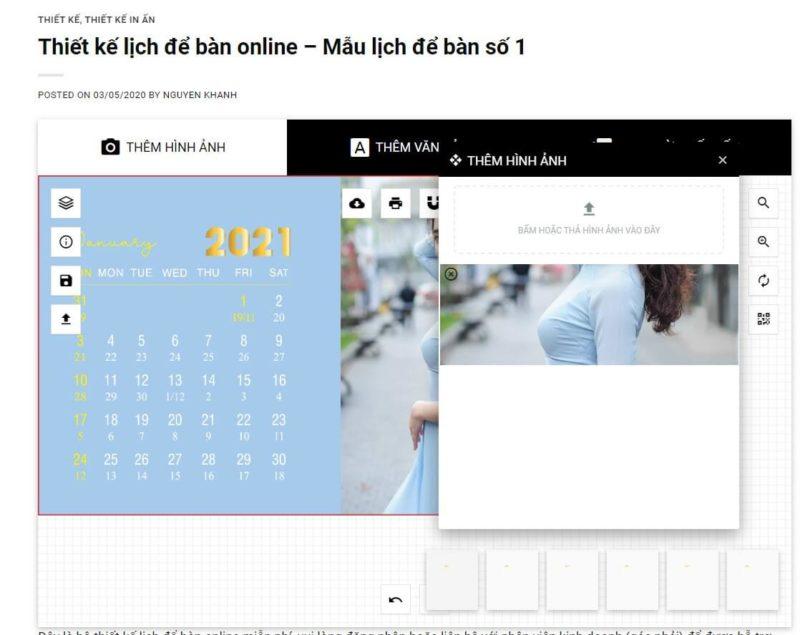 Thiết kế lịch để bàn online 45