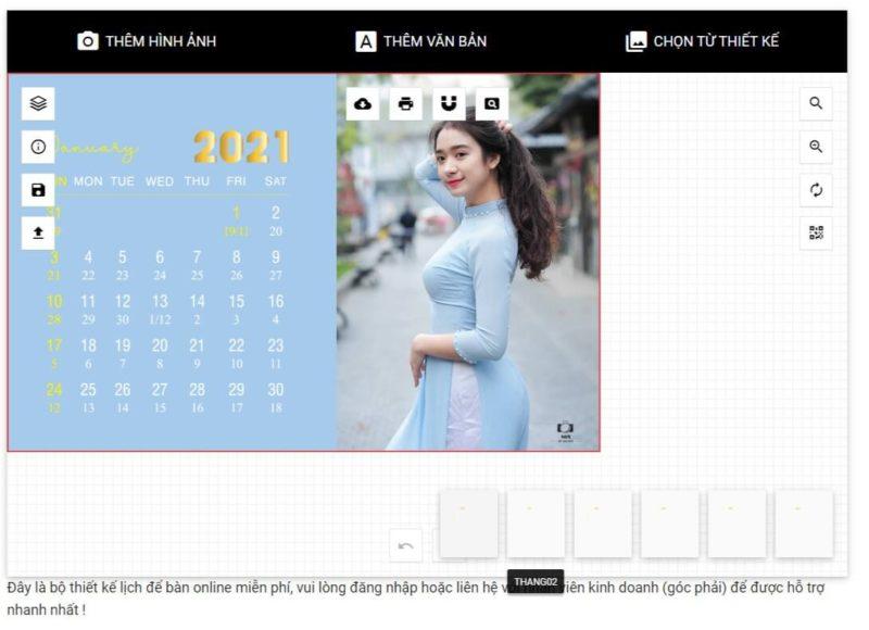 Thiết kế lịch để bàn online 46