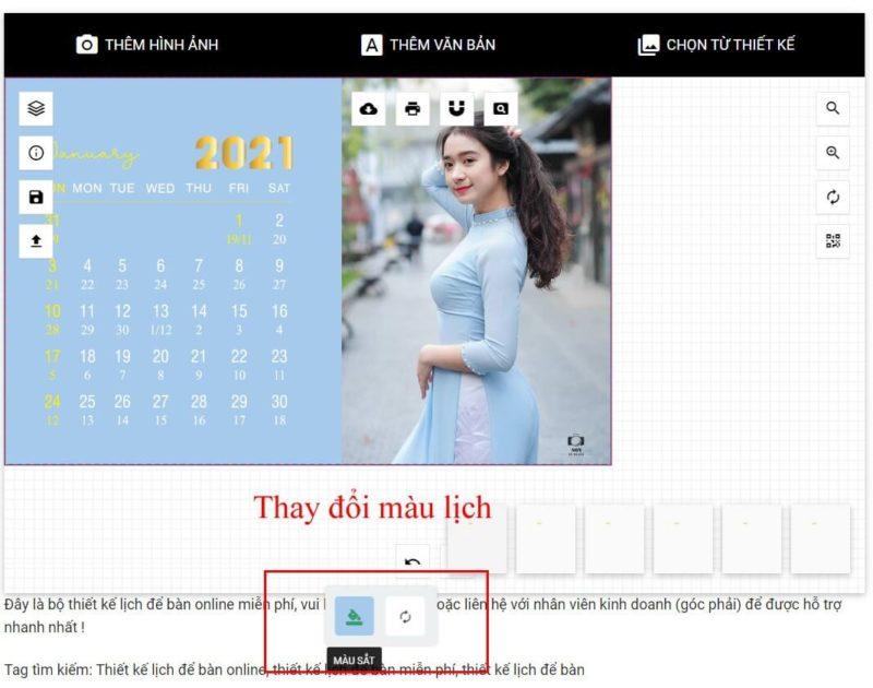 Thiết kế lịch để bàn online 47
