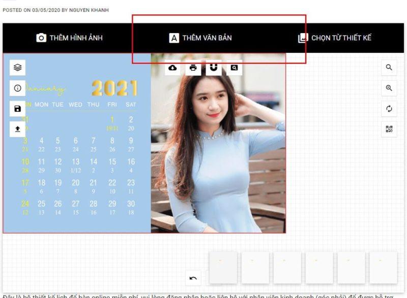 Thiết kế lịch để bàn online 49