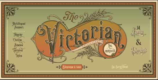 Ảnh minh họa cho font chữ Victorian