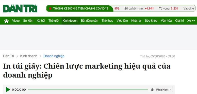 Báo Dân Trí nói về Chiến lược Marketing hiệu quả của doanh nghiệp - tại VINANETCO